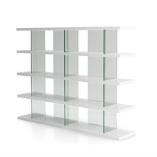 Modloft Beekman Bookcase Glossy White