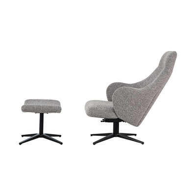 Modloft Bradhurst Lounge Chair and Ottoman Griffin Fabric