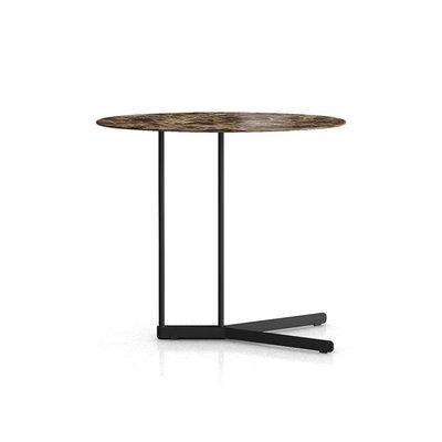Modloft Cabrini Side Table Emperador Marble