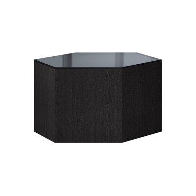 Modloft Centre 10 in. Occasional Table Asphalt Glass