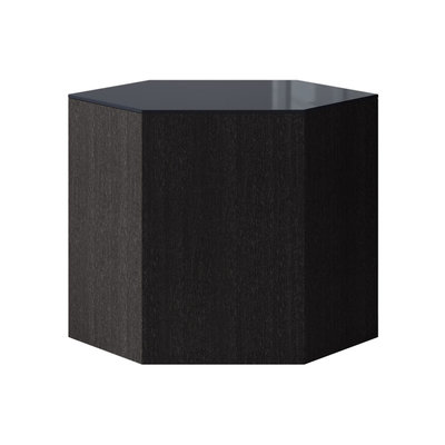 Modloft Centre 14 in. Occasional Table Asphalt Glass