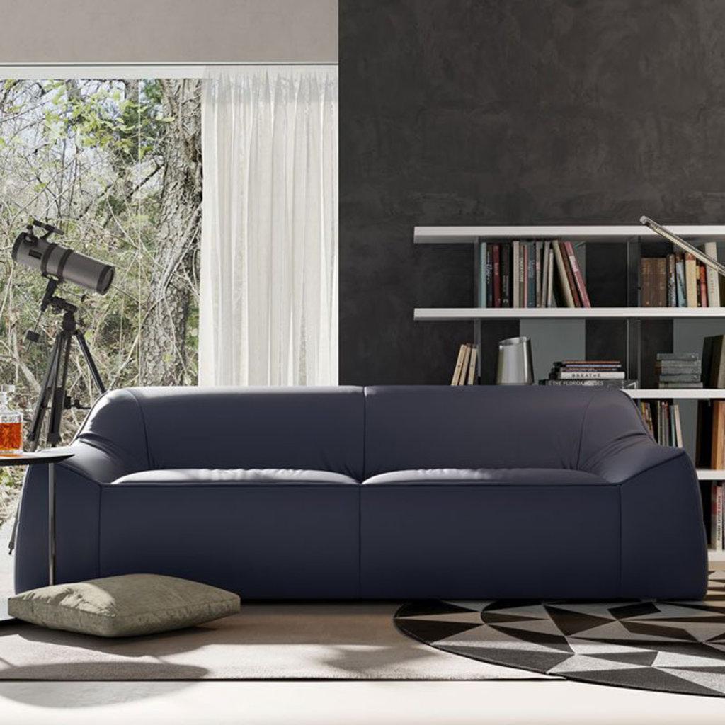 Modloft Cliff Sofa Navy Leather