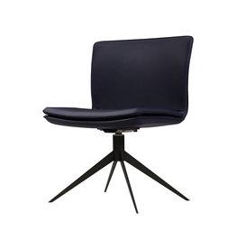 Modloft Duane Chair Navy Leather