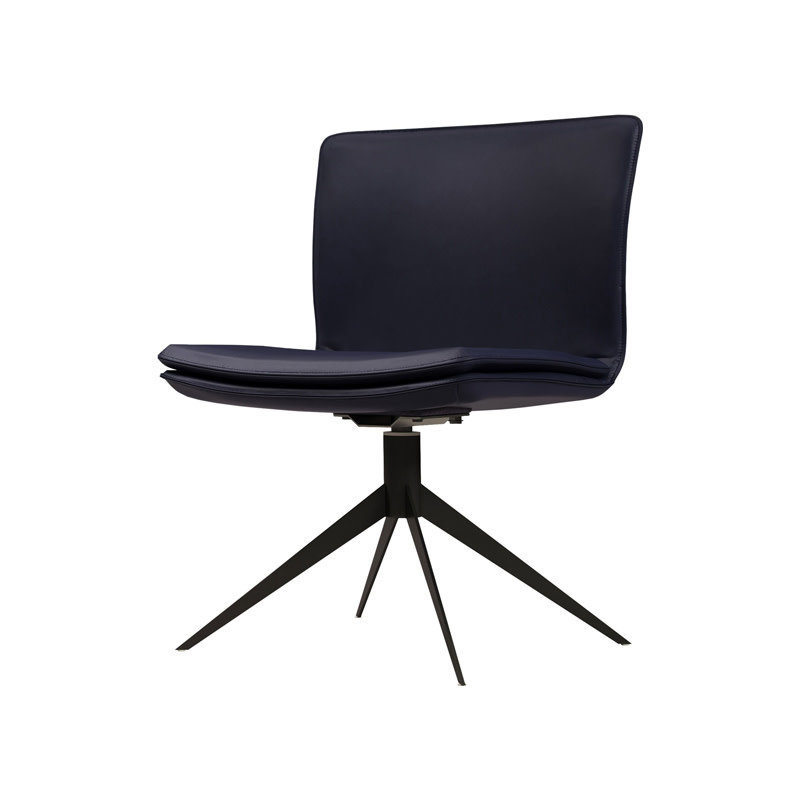 Modloft Duane Chair Navy Leather