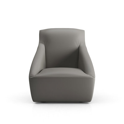 Modloft Forsyth Lounge Chair Warm Gray Leather