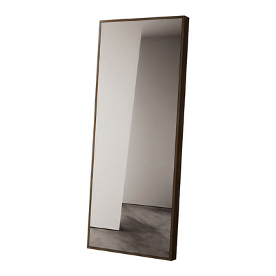 Modloft Greene Floor Mirror Walnut