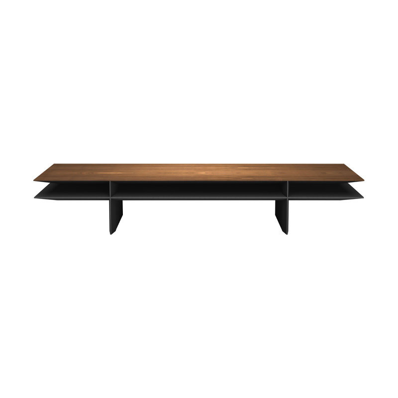 Modloft Kensington Coffee Table Walnut and Metallic Graphite