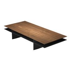 Modloft Kensington Coffee Table Walnut and Metallic Graphite