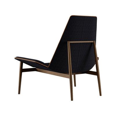 Modloft Kent Lounge Chair Black Linen