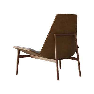 Modloft Kent Lounge Chair Gray Denim