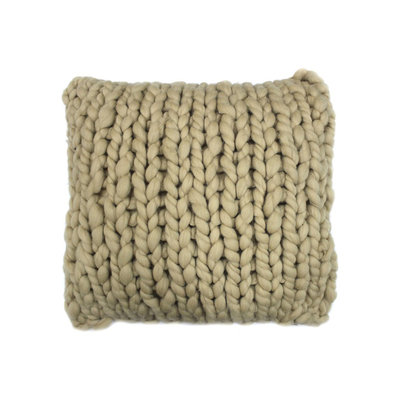 Moe's Home Collection Abuela Pillow in Sand Wool