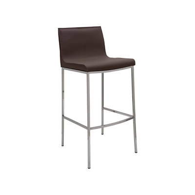 Nuevo Living Colter Barstool in Mink Leather