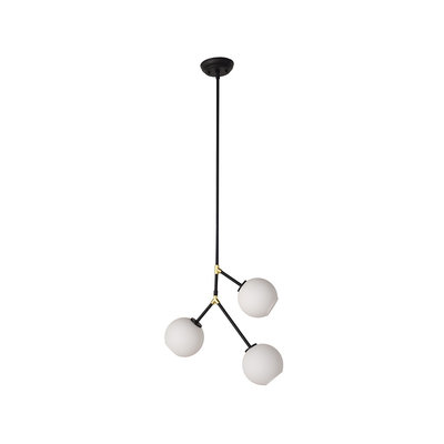 Nuevo Living Atom 3 Pendant Light Fixture in Matte Black