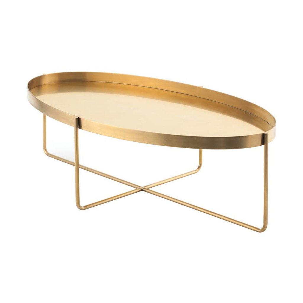 Nuevo Living Gaultier Oval Coffee Table Gold
