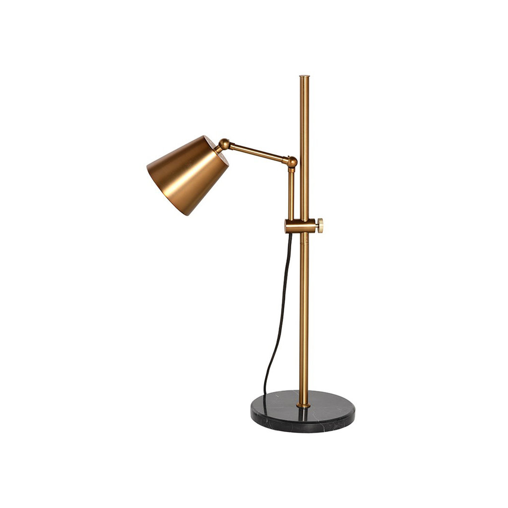 Nuevo Living Marki Table Lamp Gold with Marble Base