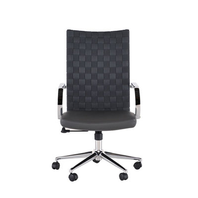 Nuevo Living Mia Office Chair Grey | Elastic Mesh back