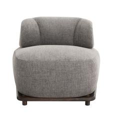 Nuevo Living Stylish Club Chair in Squirrel Fabric