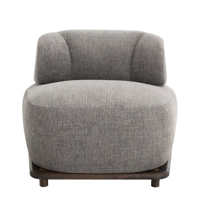 Nuevo Living Stylish Club Chair in Squirrel Fabric