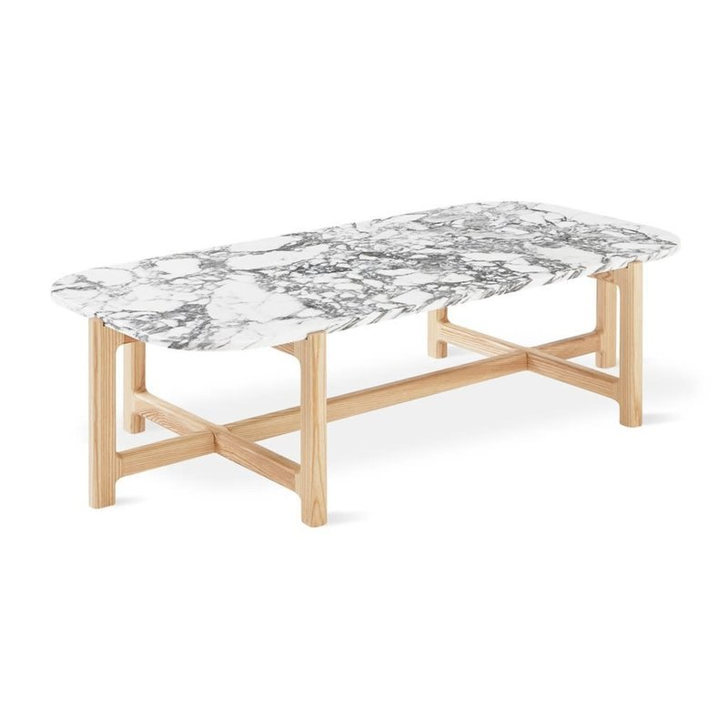 Gus Modern Quarry Rectangular Coffee Table Bianca Marble