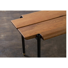 "Nuevo Living Stacking Bench Hard Fumed Oak 63"""