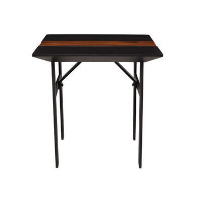 Nuevo Living Swell Side Table Black Top Walnut Accent