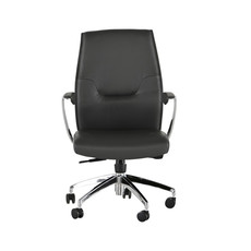 Nuevo Living Klause Office Chair Grey Leather