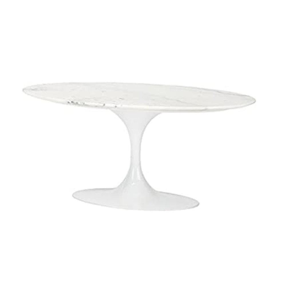 Nuevo Living Ova Coffee Table White Marble