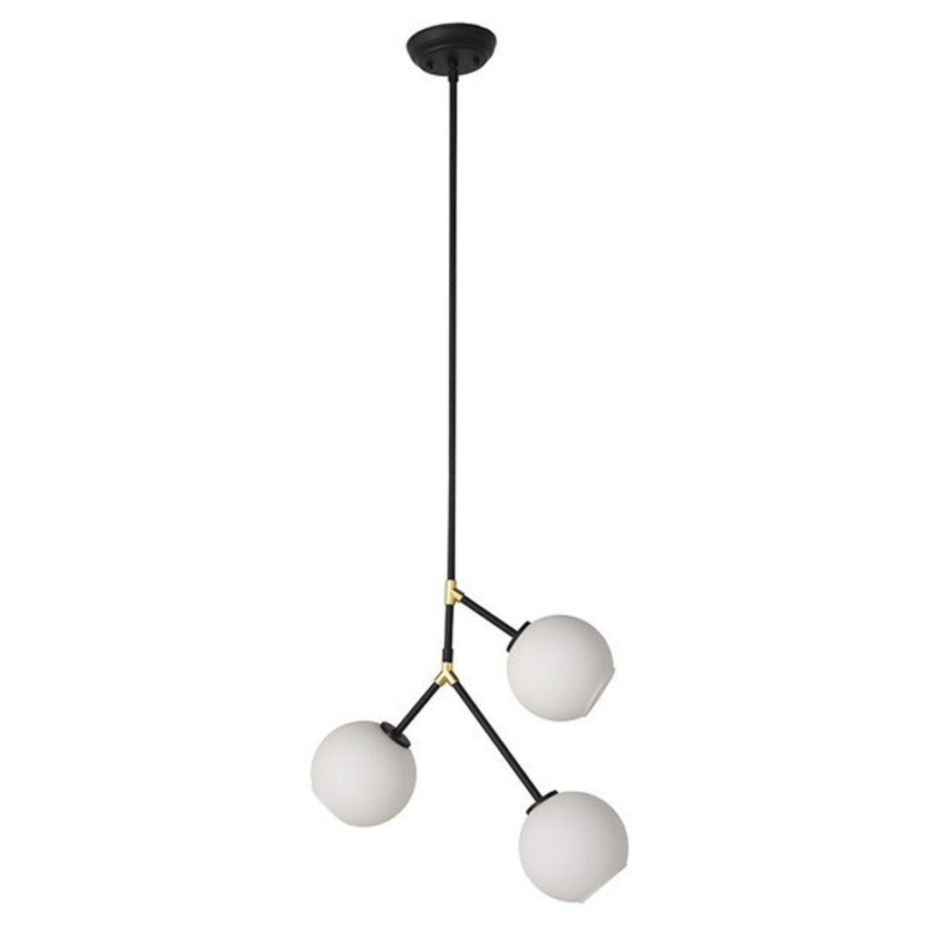 Nuevo Living Atom 3 Pendant Light Fixture in Matte Black