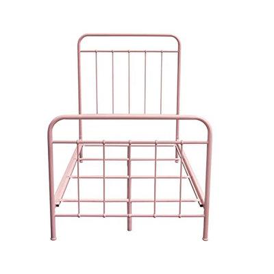 Diamond Sofa Bailey Twin Pink Metal Bed