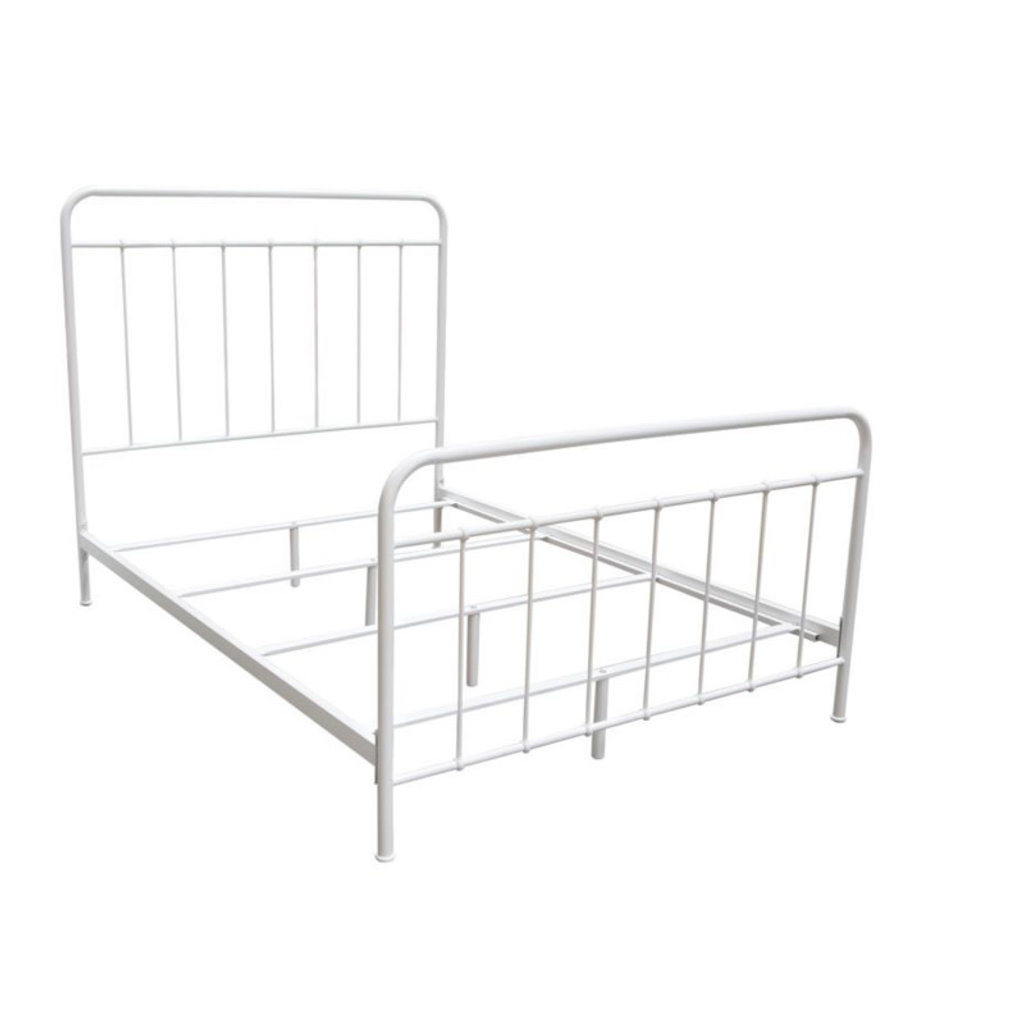 Diamond Sofa Bailey  White Full Metal Bed