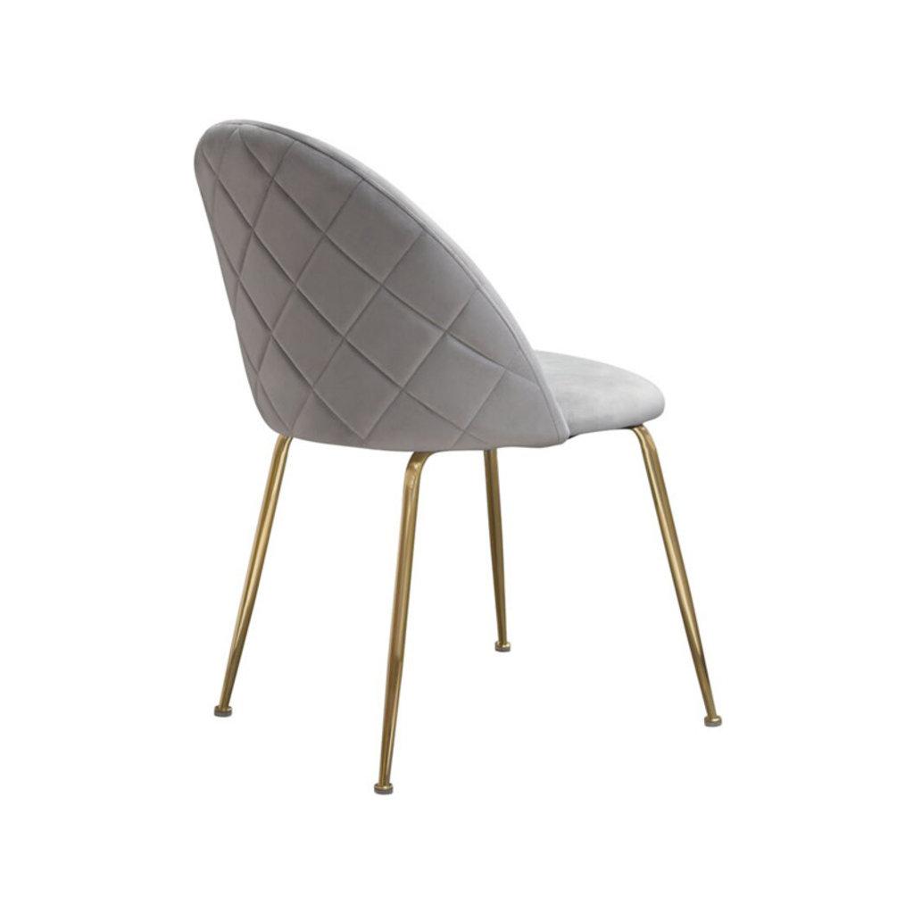 Diamond Sofa Lilly Grey Velvet Dining Chair