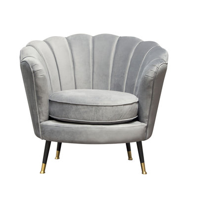 Diamond Sofa Luna Grey Velvet Chair
