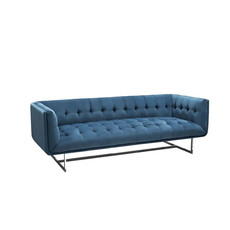 Diamond Sofa Hollywood Sofa Royal Blue Velvet Tufted