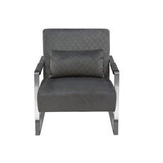 Diamond Sofa Studio  Velvet Accent Chair Grey