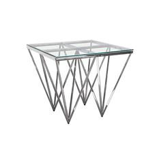 Diamond Sofa Omni Square Stainless Steel End Table