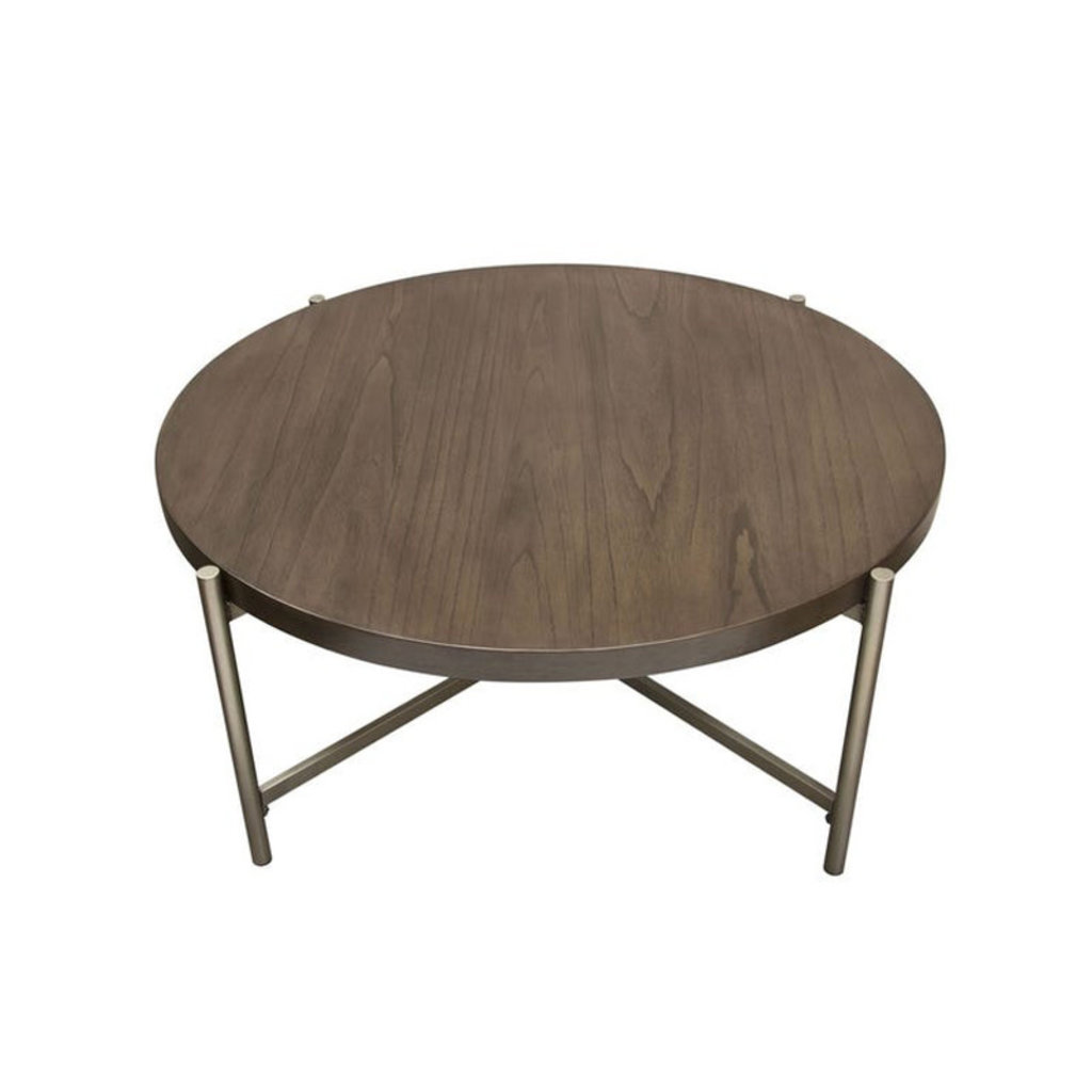 Diamond Sofa Atwood Wood Top Round Cocktail