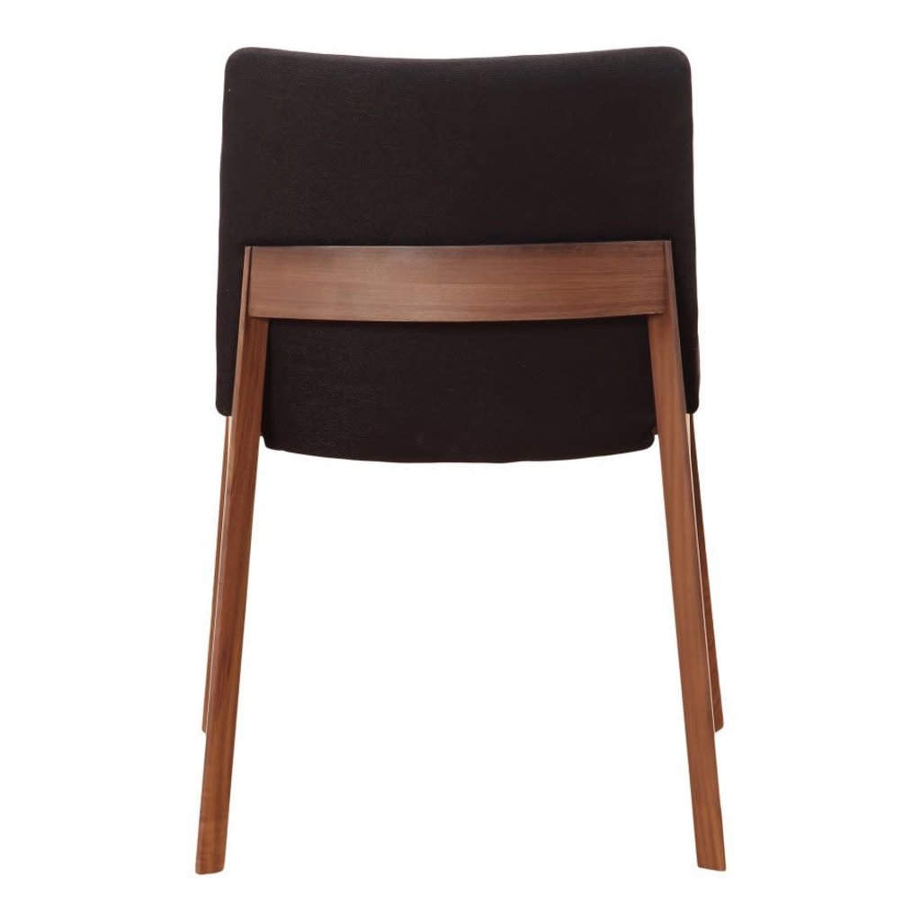 Moe's Home Collection Deco Dining Chair Black-M2