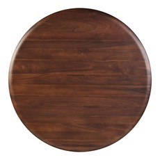 Moe's Home Collection Malibu Round Dining Table Walnut