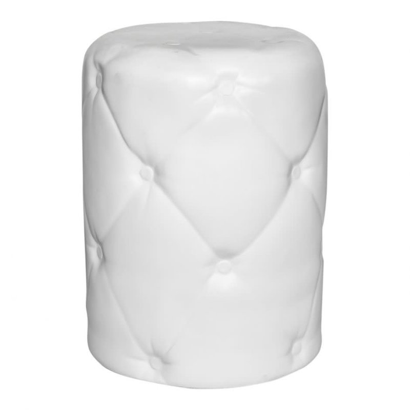 Moe's Home Collection Irony Outdoor Stool White