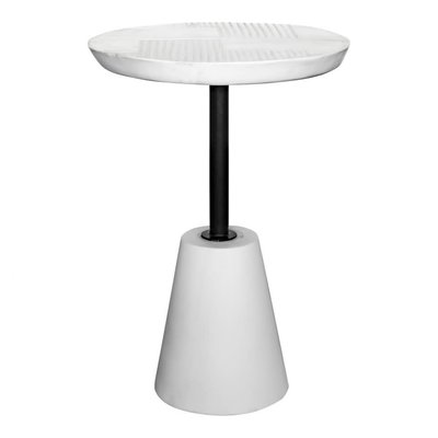 Moe's Home Collection Foundation Outdoor Accent Table White