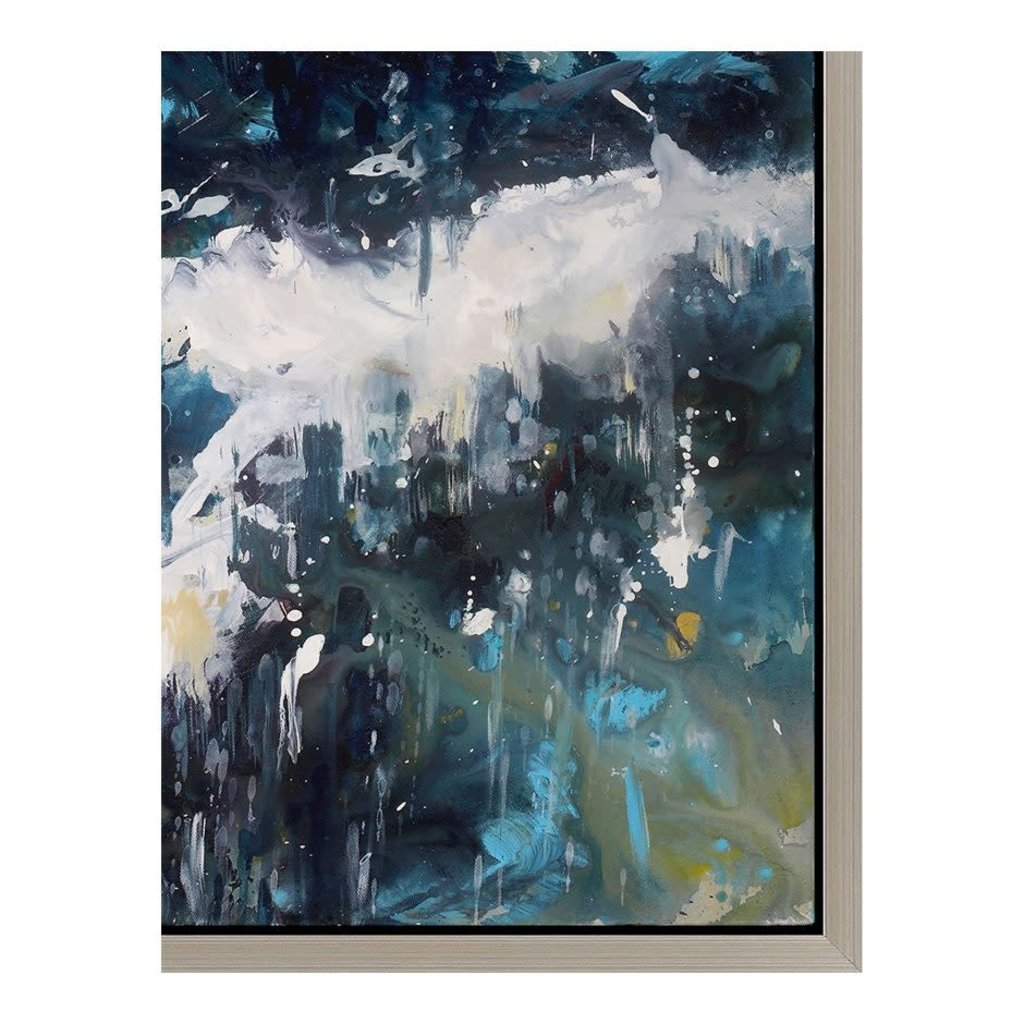Moe's Home Collection Whitecaps Wall Decor W/Frame