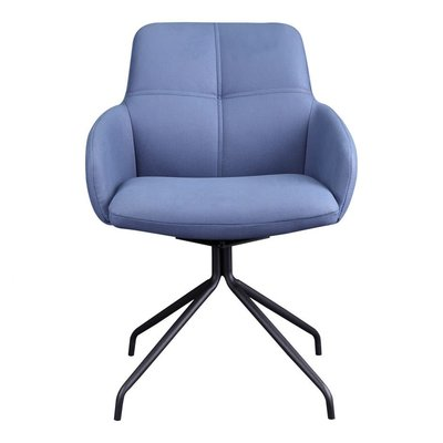 Moe's Home Collection Kingpin Swivel Chair Blue