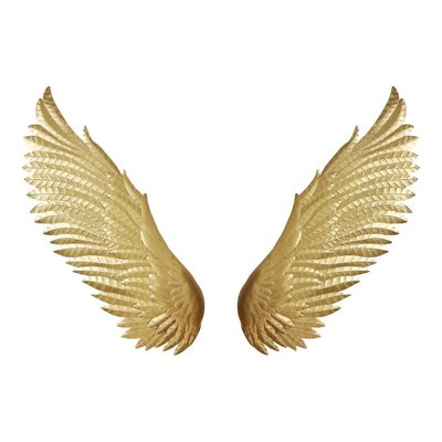 Moe's Home Collection Wings Wall Decor Gold