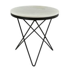 Moe's Home Collection Haley Side Table Black Base