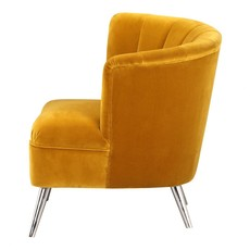 Moe's Home Collection Layan Accent Chair Right Yellow