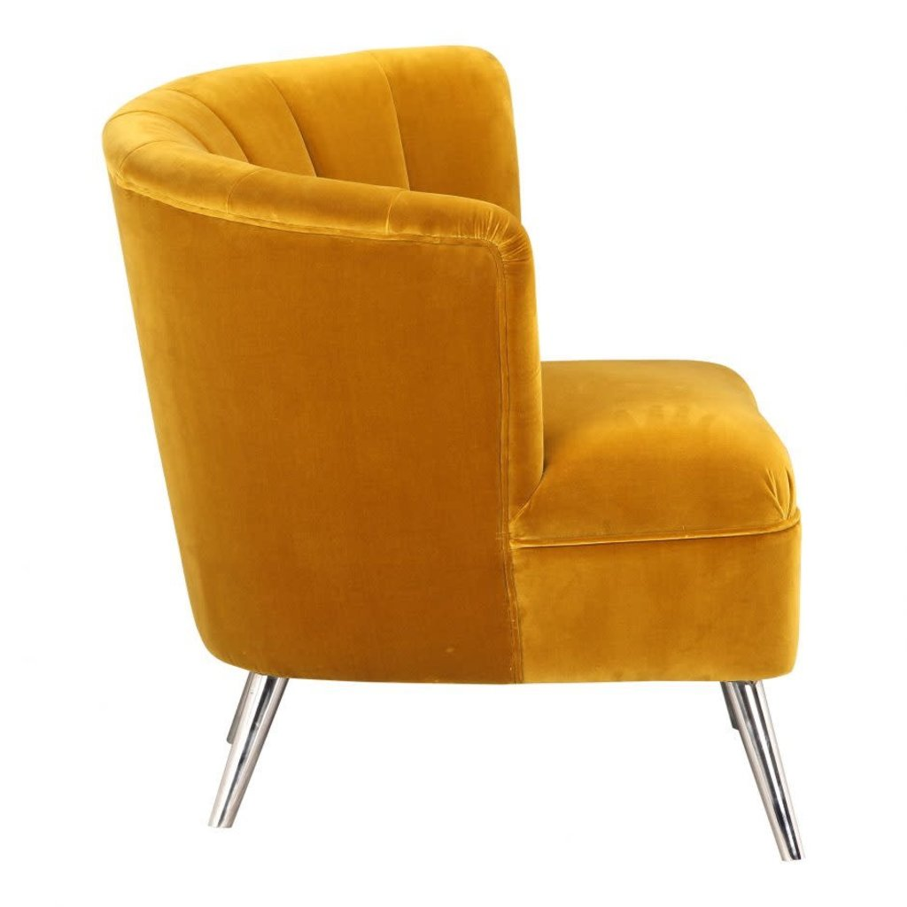 Moe's Home Collection Layan Accent Chair Left Yellow
