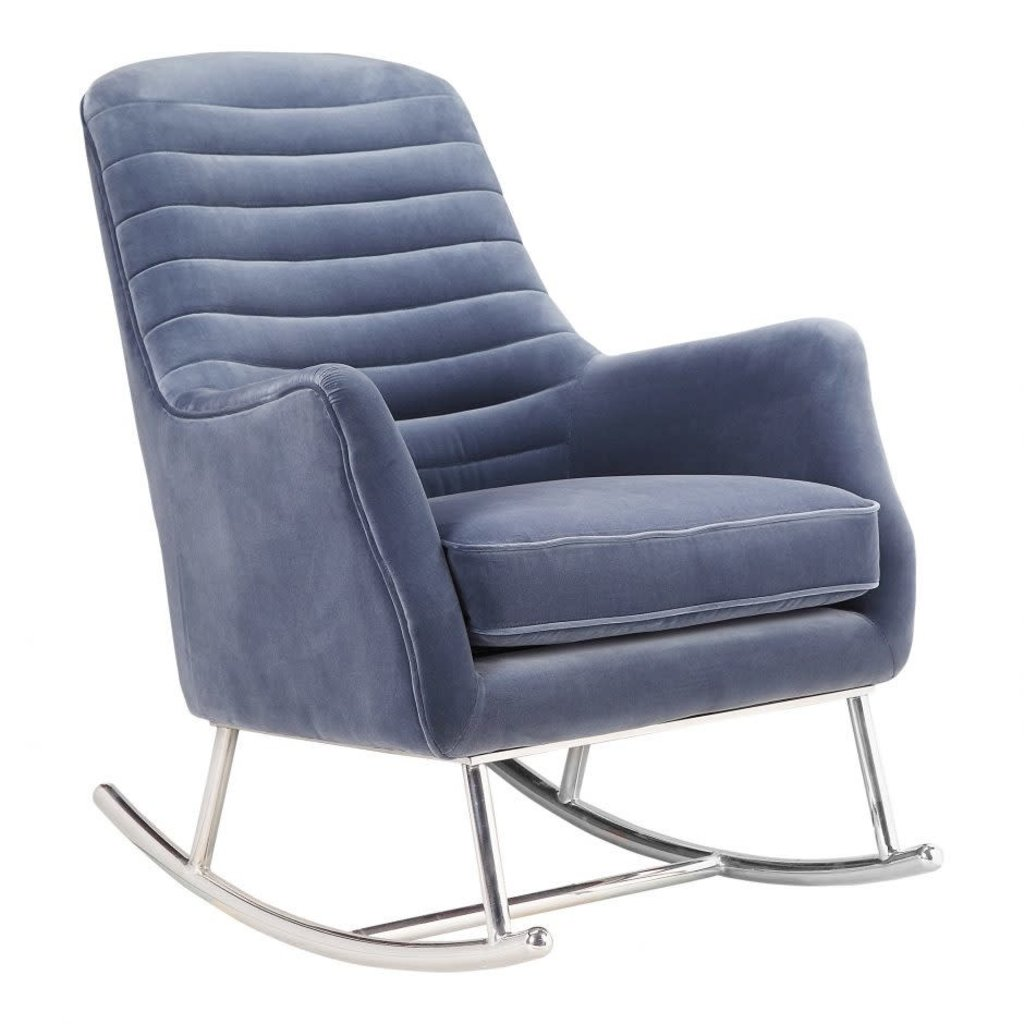 Moe's Home Collection Lars Rocking Chair Blue