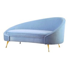 Moe's Home Collection Abigail Chaise Blue