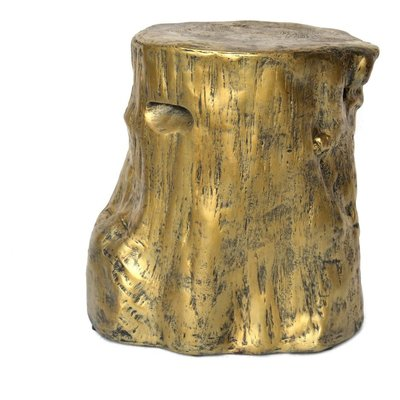 Moe's Home Collection Log Stool Gold