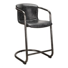 Moe's Home Collection Freeman Counter Stool Antique Black-M2